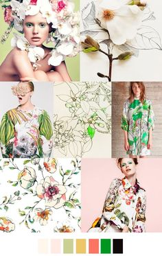 Pattern Curator delivers color, print and pattern trends and inspiration. Trends 2016, 2016 Fashion Trends, Summer Trends, Maxi Floral, Pantone, Estilo Fashion, Moda Fashion, Trendy Fashion, Pattern Curator