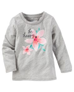 Baby Girl BE HAPPY Tee from OshKosh B'gosh. Shop clothing & accessories from a trusted name in kids, toddlers, and baby clothes.