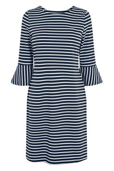 next Women Frill Sleeve Stripe Dress Petite Fit. next is the leading British clothing retailer, with over 700 stores worldwide. next offers great style, quality and value for money with a contemporary fashion edge. Frill Sleeve Stripe Dress. For Women. Shift.