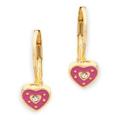 """What a perfect gift these would make - Adorn her with the Sofia earrings.   - Gold tone metal, enamel  - 1/2"""" long  - Lever back for pierced ears"""