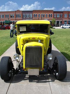 Photo by Andy New. Flower Mound Tx, Shades Of Yellow, Street Rods, Car Car, Bikers, Custom Cars, Cars And Motorcycles, Hot Rods, Antique Cars