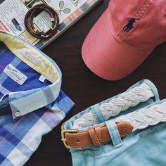 Summer Essentials // Shirt: Gant Rugger + Shorts: J. Preppy Mens Fashion, Men's Fashion, James Patrick, Men Beach, J Crew Men, Summer Essentials, Brooks Brothers, Summer Wear, Summer Looks