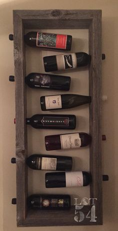A personal favorite from my Etsy shop https://www.etsy.com/listing/279478788/hanging-wine-rack-wall-decor