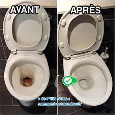 L'Astuce Super Efficace Pour Décrasser La Cuvette des WC Sans Effort. Safe Cleaning Products, Cleaning Solutions, Cleaning Hacks, Green Tips, Flylady, Home Hacks, Clean House, Housekeeping, Home Remedies