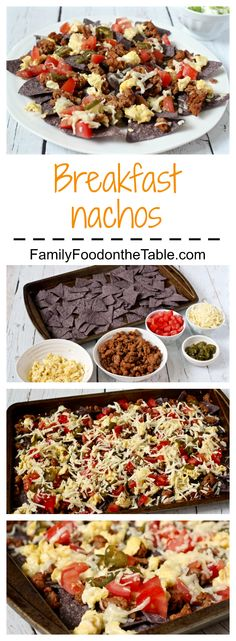 Breakfast nachos - a great way to start the day! (Also fun for a breakfast-for-dinner night)   FamilyFoodontheTable.com