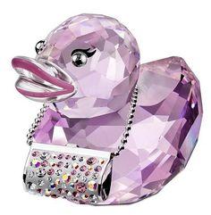 Swarovski Crystal Fancy Felicia Happy Duck.  Swarovski Crystal Figurine.