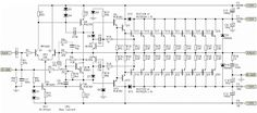 This is a very high power amplifier circuit diagram by Rod Elliott. The circuit is built using 10 pairs of power transistor and (or then it will use 20 piece… Dc Circuit, Circuit Diagram, Electronic Circuit Design, Ohms Law, Car Audio Amplifier, Crown Amplifier, Speakers, Electronic Schematics, Electronics Projects