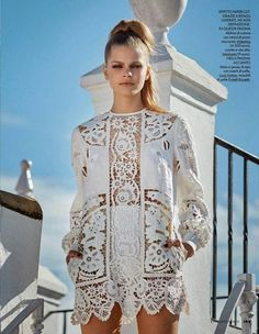 NWT VALENTINO 2015 Broderie anglaise linen mini dress