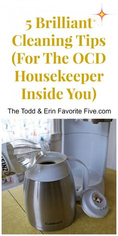 Meticulous Cleaning Tips--for the OCD soul inside you. Clever ideas to clean anything.