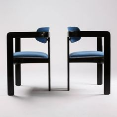 "virtualgeometry:  Outstanding Set of Eight ""Pamplona"" Armchairs by Savini for Pozzi1965"