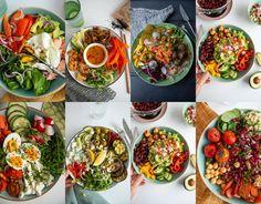 zdrowe, kolorowe michy - 8 przepisów na odżywcze budda bowls - mrspolkadot Cobb Salad, Chili, Bowls, Budda, Ethnic Recipes, Food, Diet, Bulgur, Serving Bowls