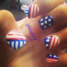 4th of July or Memorial Day by  dndang #nail #nails #nailart