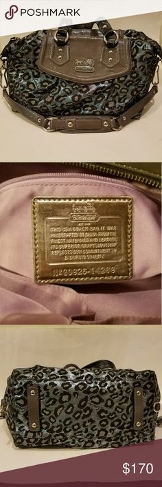 Coach Leopard Print Purse Sassy chic Authentic Coach purse, serial# G0926-14289. In great condition, gently used. Coach Bags