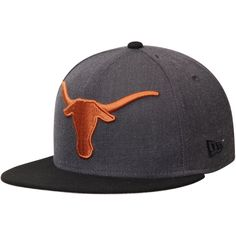 Texas Longhorns New Era NCAA Grand Fitted Structured Hat - Heathered Graphite - $26.99