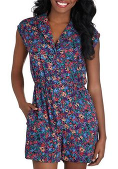 Read It and Steep Romper in Wildflower, #ModCloth