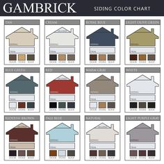 Vinyl Siding Color Combinations - Top vinyl siding color combinations from Gambrick Vinyl Siding Colors, Siding Colors For Houses, Exterior Siding Colors, House Exterior Color Schemes, Exterior House Siding, Exterior Paint Colors For House, Outside House Paint Colors, Painting Vinyl Siding, Vinyl Shake Siding