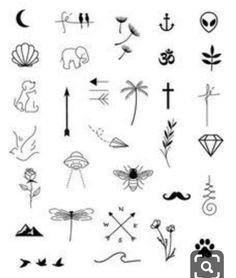 Minimalist Tattoo Designs - Page 49 of 95 - CoCohots Mini Tattoos, Cute Tattoos, Unique Tattoos, Small Tattoos, Tattoos For Guys, Tatoos, Inspiration Tattoos, Wald Tattoo, Beste Freundin Tattoo