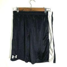 cbe395b91bc8 Under Armour Youth Boys Black with White Stripe Basketball Shorts - Size YXL   fashion