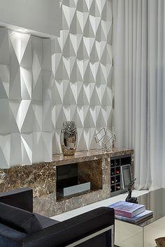 Origami branco - Arq. Flavia Soares - Foto: Gustavo Xavier   #revestimento…