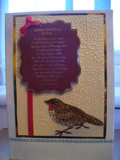 Christmas 2015 using the Tattered Lace Robin die, Hunkydory topper and Spellbinders M-bossabilities folder