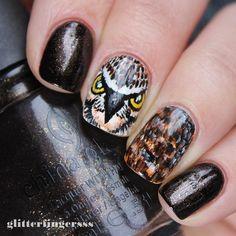 """Handpainted owl nail art with @chinaglazeofficial Midtown Magic. I know, it looks like a hawk...oh well, I like it anyways :D #nailartwow #nailartaddict #nails2inspire #nailartjunkie #nailartdesign #nailart #nailsofinstagram #nailstagram #nailswag"" Photo taken by @glitterfingersss on Instagram, pinned via the InstaPin iOS App! http://www.instapinapp.com (02/02/2015)"