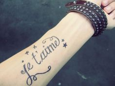 I Love You in French Tattoo