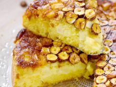 pomme, citron, noisettes, noix de pécan, sucre, oeuf, sucre, beurre, farine, levure, sel Dessert Light, Bon Dessert, Apple Desserts, Biscuits, Macaroni And Cheese, French Toast, Sandwiches, Food And Drink, Gluten