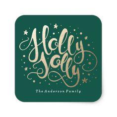 Holly Jolly   Holiday Stickers - christmas craft supplies cyo merry xmas santa claus family holidays