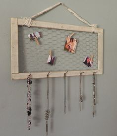 Shabby Distressed Jewelry Hanger / Organizer  Made by GeckosHyde, $22.50