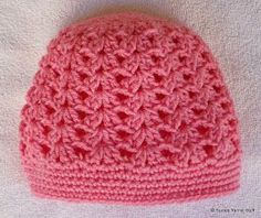 Pattern for matching scarflet here . PERFECT PINK SHELLS CAP Materials: Worsted weight (4) yarn approximately 2 ounces US ...