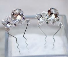 Hair Comes the Bride - Rhinestone Bridal Hair Pin ~ Corin, $29.00 (http://www.haircomesthebride.com/rhinestone-bridal-hair-pin-corin/)
