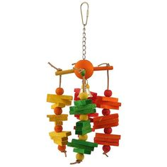 Carousel Chew Parrot Toy - Medium A chewable Carousel styled Parrot toy that spins as your bird plays.