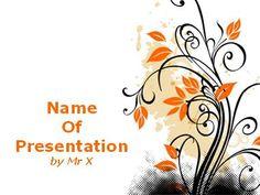 Modèle Powerpoint Motif Orange floral