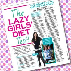 Ali's weight loss story with Cambridge Weight Plan (Best Magazine - Diet Special, May 2014).