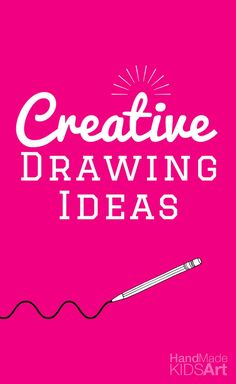 31 Creative Drawing Ideas for Kids. Easy and fun drawing prompts for kids of all ages. Download and print these inspiring journaling or sketching prompts, also excellent writing prompts for kids.