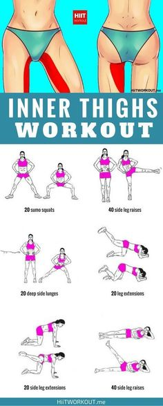 These exercises go beyond traditional leg lifts to slim and shape your inner thighs from every angle. #FITNESSEXERCISES