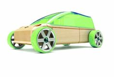 Automoblox Mini M9 Sport-Van Green by Automoblox by Manhattan Toy. $9.99. Comes complete with a stylish wooden body, kids add wheels, windows, and unique customizing details. Made of German beech wood finished with 3 coats of non-toxic lacquer wheel rims, roof, connectors. Patented connector system. From the Manufacturer                A reinvention of a classic wooden toy car for the iPod age, Automoblox is a fusion of heirloom craftsmanship and ultra-modern styling trans...