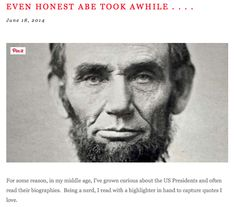 The POTUS Point of View:  Abraham Lincoln