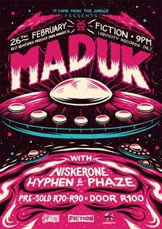 'Maduk' Poster on Behance by Ian Jepson
