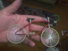 Como fazer uma bicicleta de arame de alumínio?