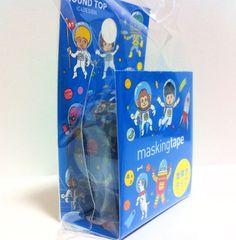 Kawaii Japan Deco Masking Tape: Round Top Series Lost in Space #washi #deco #masking #tape #japanese #kawaii
