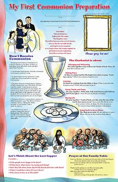 "Reinforce classroom study by bringing the ""textbook"""" home in the form of a colorful, engaging family poster that can foster Catholic identity in the Catholic Sacraments, Catholic Catechism, Catholic Religious Education, Catholic Kids, Teaching Religion, Religion Catolica, Catholic Religion, Communion Prayer, First Holy Communion"