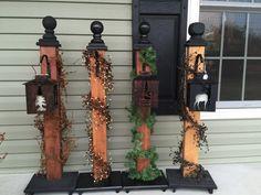 Bougie lanterne porche poste avec cintre décor par BucksBarnWorks
