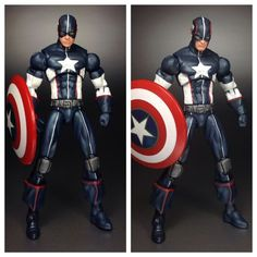 Secret War Captain America (Marvel Universe) Custom Action Figure byManyMack Creationz Base figure: MU
