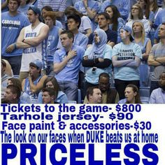 Priceless when duke beats UNC at home lol