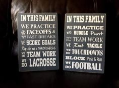 Hand Painted Sports Signs / Lacrosse or by CraftedJust4uDesigns