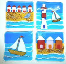 fused glass clocks seaside - Google Search