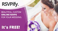 RSVPify is the new way for your wedding guests to RSVP. Easily create beautiful online RSVPs for all your celebrations with guest list tracking, sub-events, custom questions and more. http://www.rsvpify.com