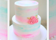 Beautiful Watercolor Buttercream Tutorial by MyCakeSchool.com! Online Cake Decorating Classes & Recipes!