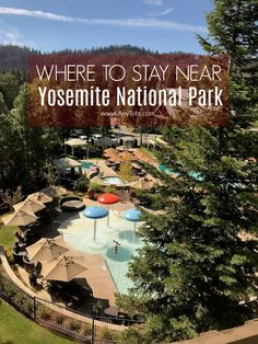 Where to Stay near Yosemite National Park. This Yosemite National Park Hotel or Yosemite National Park Resort is perfect for families. Check out this Family Friendly Resort near Yosemite National Park. There's an indoor and outdoor pool splash pad, archer Yosemite National Park Lodging, Yosemite Camping, California National Parks, Us National Parks, Yosemite Vacation, Sequoia National Park Hotels, Yosemite Lodging, Yosemite Sam, Santa Cruz